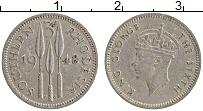 Изображение Монеты Родезия 3 пенса 1948 Медно-никель XF Георг VI