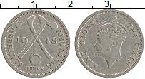 Изображение Монеты Родезия 6 пенсов 1948 Медно-никель XF Георг VI