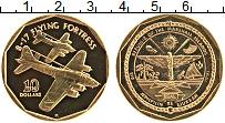 Изображение Монеты Маршалловы острова 10 долларов 1991 Латунь Proof- Самолёт B17 FLYING F