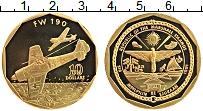 Изображение Монеты Маршалловы острова 10 долларов 1991 Латунь Proof- Самолёт FW 190