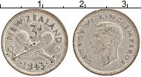 Изображение Монеты Новая Зеландия 3 пенса 1943 Серебро XF Георг VI
