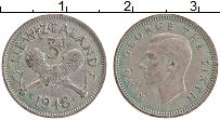 Изображение Монеты Новая Зеландия 3 пенса 1948 Медно-никель XF Георг VI