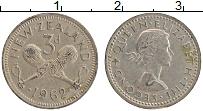 Изображение Монеты Новая Зеландия 3 пенса 1962 Медно-никель XF Елизавета II.