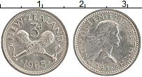 Изображение Монеты Новая Зеландия 3 пенса 1965 Медно-никель XF Елизавета II.