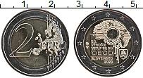 Изображение Мелочь Словакия 2 евро 2020 Биметалл UNC 20 лет вступления Сл