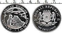 Изображение Монеты Сомали 100 шиллингов 2019 Серебро Proof Леопард