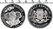 Продать Монеты Сомали 100 шиллингов 2021 Серебро