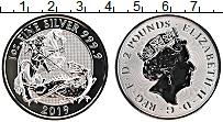 Изображение Монеты Великобритания 2 фунта 2019 Серебро Proof Святой Георгий