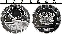 Изображение Монеты Гана 5 седи 2019 Серебро Proof Гиганты ледникового