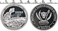 Изображение Монеты Конго 20 франков 2020 Серебро Proof Тиранозавр Рекс