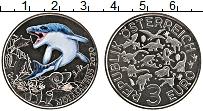 Изображение Монеты Австрия 3 евро 2020 Медно-никель UNC Акула. Цветная печат