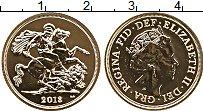 Изображение Монеты Великобритания 1 соверен 2018 Золото UNC Елизавета II (Проба