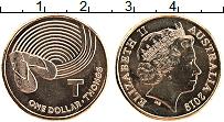 Изображение Мелочь Австралия 1 доллар 2019 Латунь UNC Елизавета II. Алфави