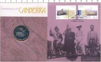 Изображение Подарочные монеты Австралия 20 центов 2013 Медно-никель UNC 100 лет Канберре. Ор
