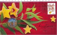 Изображение Подарочные монеты Австралия 1 доллар 2018 Латунь UNC Счастливого Рождеств