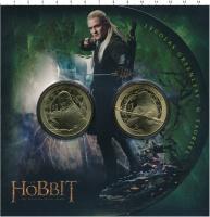 Изображение Подарочные монеты Новая Зеландия Хоббит 2013 Латунь UNC