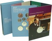 Изображение Подарочные монеты Великобритания Набор 2017 года 2017  UNC `В набор входят восе