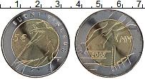 Изображение Монеты Финляндия 5 евро 2005 Биметалл UNC X Чемпионат мира по