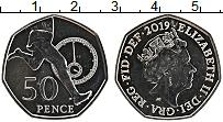 Изображение Монеты Великобритания 50 пенсов 2019 Медно-никель UNC Елизавета II. 50 лет