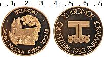 Изображение Монеты Швеция 10 крон 1983 Бронза UNC Городские деньги