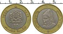 Изображение Монеты Марокко 10 дирхам 1995 Биметалл XF- Хасан II