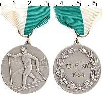 Изображение Монеты Швеция Медаль 1964 Медно-никель UNC 2-ое место в лыжных