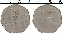 Изображение Монеты Ирландия 50 пенсов 1970 Медно-никель XF-