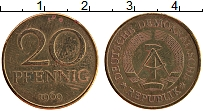 Изображение Монеты ГДР 20 пфеннигов 1969 Латунь VF