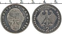 Изображение Монеты ФРГ 2 марки 1992 Медно-никель XF J. Людвиг Эрхард