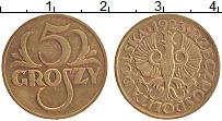 Изображение Монеты Польша 5 грош 1923 Бронза XF