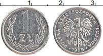 Изображение Монеты Польша 1 злотый 1989 Алюминий XF
