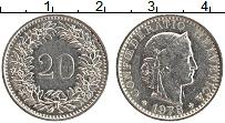 Изображение Монеты Швейцария 20 рапп 1978 Медно-никель UNC-