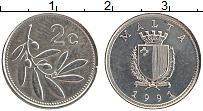 Изображение Монеты Мальта 2 цента 1991 Медно-никель UNC-