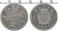 Изображение Монеты Мальта 50 центов 1995 Медно-никель XF