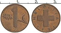 Изображение Монеты Швейцария 1 рапп 1981 Бронза XF