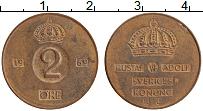 Изображение Монеты Швеция 2 эре 1969 Бронза XF Густав VI Адольф