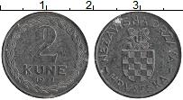 Изображение Монеты Хорватия 2 куны 1941 Цинк XF