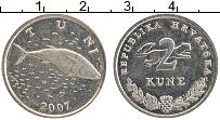 Изображение Монеты Хорватия 2 куны 2007 Медно-никель XF