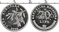 Изображение Монеты Хорватия 20 лип 2008 Медно-никель XF