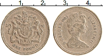 Изображение Монеты Великобритания 1 фунт 1983 Латунь VF Елизавета II.