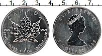 Изображение Монеты Канада 5 долларов 1988 Серебро UNC Елизавета II. Кленов