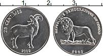 Изображение Монеты Конго 25 сентим 2002 Алюминий UNC-