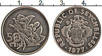 Изображение Монеты Сейшелы 50 центов 1977 Медно-никель XF