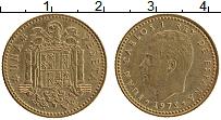 Изображение Монеты Испания 1 песета 1975 Латунь XF Хуан Карлос I