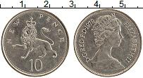 Изображение Монеты Великобритания 10 пенсов 1979 Медно-никель XF Елизавета II.