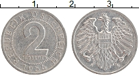 Изображение Монеты Австрия 2 гроша 1954 Алюминий XF