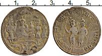 Изображение Монеты Индия Жетон 0 Латунь XF- Храмовый жетон