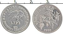 Изображение Монеты Хорватия 2 липы 1993 Алюминий XF Флора