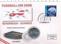 Изображение Подарочные монеты Австрия 5 евро 2008 Серебро UNC Чемпионат Европы по