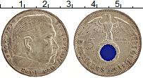 Изображение Монеты Третий Рейх 5 марок 1938 Серебро XF А. Пауль фон Гинденб